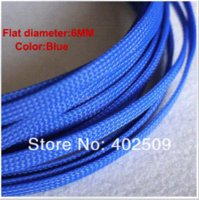 Wholesale Clearance blue red optional mm m UL RoSH certified PET expand cable sleeving for mm cable protection
