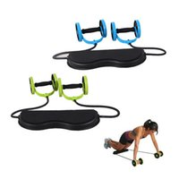 Wholesale Abdominal Waist Slimming Trainer Exerciser Ab Roller Core Double AB Wheel Comprehensive Fitness Workout Gym Equipment Women Men