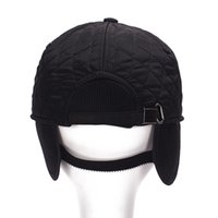 adult protection service - 2016 Vogue woolen winter warmer cotton Baseball Caps Casquette Ear protection chapeu hats Gorras Golf Service Army Military cap