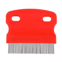 Wholesale 2016 Pet Dog Clean Comb Needle Nit Lice Comb Pet Brush Flea Comb Grooming Tool
