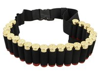 airsoft ammo - 140 CM Outdoor Airsoft Hunting Tactical Shotgun Shell Bandolier Belt Gauge Ammo Holder Military Shotgun Cartridge Belt