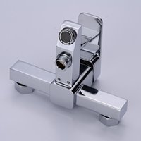 bathtub water valve - 2015 Limited Chrome Shower Panel Copper Bathtub Faucet Shower Triple Tap Water Bathroom Concealed Cold And Hot Mixing Valve