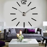 Wholesale Anself Home DIY decoration large quartz Acrylic mirror wall clock Safe D Modern design Fashion Art decorative wall stickers Watch
