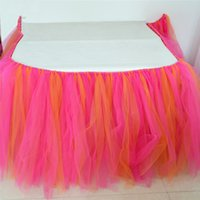 Wholesale Custom Made Color TUTU Table Skirt Tulle Tableware for Wedding Decor Birthday Baby Shower Party to Create a Fantastic Wonderland