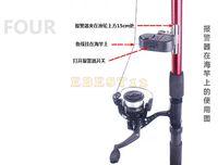Wholesale New Electronic Bite Fish Alarm Bell Fishing Rod Pole W LED light Fishing Tools