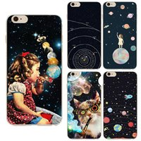 astronaut pictures - Airship Astronaut Stars Case Cover For Apple iPhone S Silicone Moon Night Case High tech cosmic picture Design Phone Case