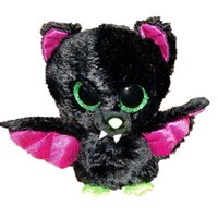 bat soft toy - TY Beanie Boos Cute Slick Bat Plush Toys cm Ty Plush Animals Big Eyes Eyed Stuffed Animal Soft Toys for Kids Gifts L283