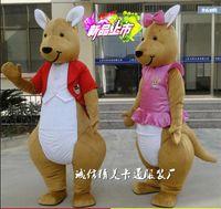 apparel australia - EMS shipping Cartoon Kangaroo Mascot Cute Australia Kangaroo Costumes Mascot Performance Novelty Apparel