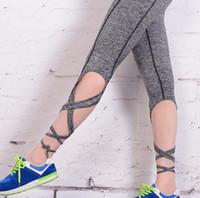 Wholesale NEW Fashion Women Leggings Sexy winding lace up Sport yoga Leggings Fitness pants Gym Legging CC684