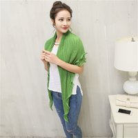 Wholesale Sun Crushed Shawl New Long Sleeve Lotus Leaf Border Sunshade Beach Shawl colors