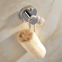 Wholesale PHASAT Modern Silver Brass Round Robe Hooks Nail Wall Bathroom Hardware Clothes Coat Hat Single Hanger