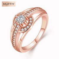 acc watch - European And American Style Rose Gold Watch Shape Zircon Ring Round Ring Sporty Rose Gold Plated amp Zirconia Gift Women Dress Acc