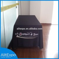 Wholesale Customed full color Dye Sublimation Printed table cloth table cover table throw promotion table skirt throw cover printing