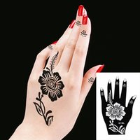 Wholesale India Henna Hand Body Tattoos Stencils For Hand Leg Arm Feet Body Art Decal Tattoo Stencil PVC Pasted Stickers a Pair