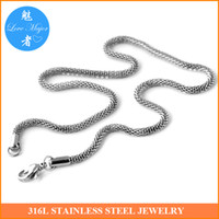 Wholesale Classic inch long mm wide fashion silver color stainless steel round mesh chain necklace jewelry for women