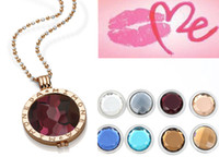 Wholesale coin holder chain complete set engraved fashion Mi moneda stone locket mm diy coin necklace stainless steel jewelry
