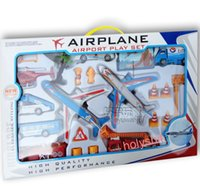 airport play - Flying car plane model toys for children play casual puzzle Sporting Goods airport Sets