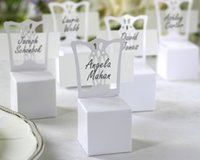 best party place - 2016 New Chair Place Card Holder and Favor Box best for candy boxes and wedding favors box event party supplies