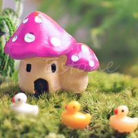 Wholesale Miniature Mushroom House Ornaments Potted Plant Craft Decoration Bonsai Garden