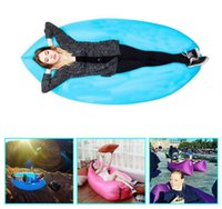 Wholesale Sleep Bag Lay bag light Fast inflatable air lounge10 Seconds Quick Open Folding Sofa Beach Sleep Bed