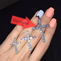 Wholesale Star Harvest Best New Design Diamond Cross Christian Sterling Silver Pendant For Gift