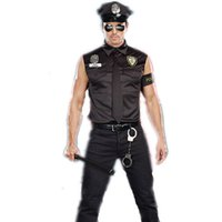 adult halloween shirts - Halloween Costumes Adult America U S Police Cop Costume Top Shirt Fancy Cosplay Clothing for Men