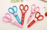 Wholesale Cute Kawaii Colorful Cartoon Plastic Scissors with lid DIY School Stationery