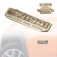 Wholesale 75 Year Anniversary Metal Emblem Badge Nameplate for Jeep Wrangler CHEROKEE Bronze