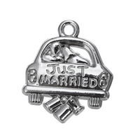 antique jewerly - My Shape Married Wedding Car Jewerly DIY Cute Charms Personalized Zinc Alloy Antique Silver Plated Charms For