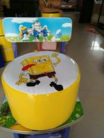 Wholesale Small bench for children Cartoon chair Made in China Pure handmade