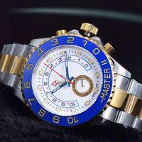 Wholesale mens top watches brand luxury automatic mechanical watch gold sapphire blue ceramic bezel whole steel clock for men montre