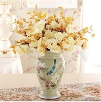 Wholesale Euramerican style ceramic flower vases ceramic arts and crafts in living in adornment married to decorate a room