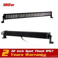 Wholesale 32inch W LED Work Light Bar for Boat SUV Tractor ATV v v Offroad Fog Light WorkLight Extermal Light Save on w w