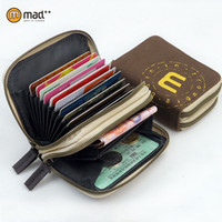 american safe - 2015 Hot Selling RFID Identity Safe Canvas Wallet Prevent Electronic Credit Card Scan Theft with Double Zipper Card Holders