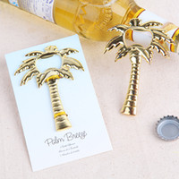 beer tree - Free DHL Express Shipping Golden Tone Coconut Tree Beer Bottle Opener Wedding Favors Thanks Ceremony Gift