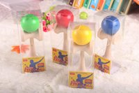 Wholesale Kendama Ball Toy Skillful Jling Game Ball Japanese Traditional Funny Sword Balls Toy Educational Toys With Retail Packaging DHL