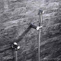 Wholesale Han Pai Brass Bathroom Bidet Faucet Toilet Portable Spray With Shower Holder Handheld Bidet grifo ducha HP7012
