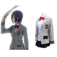 Wholesale Japanese Anime Tokyo Ghoul Cosplay Kirishima Touka Costume for Adults teenagers Coat Shirt Skirt Bow tie per set