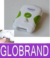 Wholesale 2016 Roto Clipper Electric Nail Trimmer White Green automatic Nail clipper GLO827