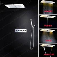 bathtub finish - Bathroom Shower Set SS Chrome Finish Embeded Ceiling Shower Faucet Bathtub Thermostatic Mixer Shower Set