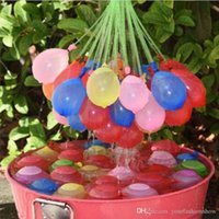 latex cartoon - Bunch Balloons Water balloons Magic balloons in bunch can fill per minutes Summer water game toys child toys color balloon L124