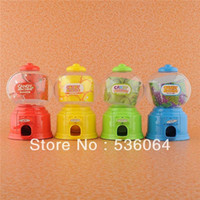 Wholesale Fashion Mini Candy Gumball Vending Machine Saving Box Coin Bank Child Gift four colors shipping