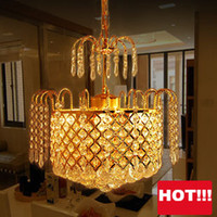 Wholesale Vintage K9 Crystal Chandelier Traditional Gold Chandelier Lighting bohemian crystal chandelier Hanging lamps for Hotel Living room