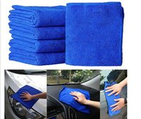 Wholesale 30 cm Universal Soft Absorbent Wash Cloth Car Auto Care Microfiber Cleaning Towels W048