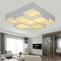 Super Helle Dimmbare Cube Moderne Deckenleuchten 4 6 9 Kpfe Fr Wohnzimmer Schlafzimmer 28
