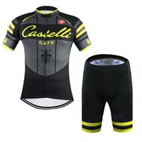 anti cafe - Tour De France Cast Cafe Yellow Fluo cycling clothing set short sleeve Quick Dry Racing Bicycle ropa ciclismo cycling Jerseys bib pants