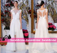 anne barge wedding dresses - Anne Barge Short Sheath Wedding Dresses Two Piece in Style Fashion Runway Exquisite Embroidery Bridal Gowns with Long A Line Train
