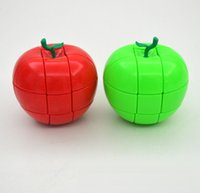 accessories wood finishing - 2017 Puzzle Apple Shape Apple s Third order Magic Cube Shaped Spring Irregular Cube Structure Christmas Toys cm E1681