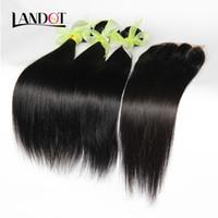 Cheap Malaysian Hair weaves closure Best Straight Under $10 lace closure bundles