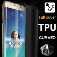 For Apple iPhone anti shock - Full Coverage Curved TPU Clear Anti Shock Front and Back Flim Screen Protector For iPhone Plus S SE S Samsung Note S7 S6 Note edge